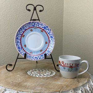 Mary Engelbreit Time for Tea Cup Saucer Set Sister